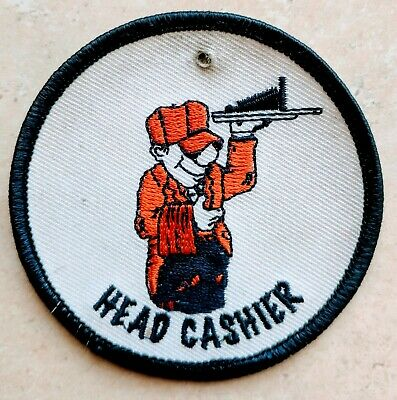 Home Depot Apron Badge: Head Cashier Trained Certified (patch, pin, swag)