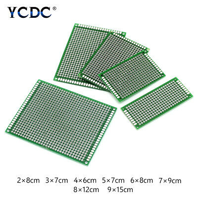 Double Sides Prototyping PCB Circuit Board Strip Breadboard For Arduino DIY 9F2