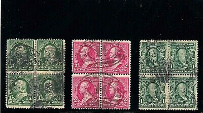 US STAMPS 19th and early 20th century used/unidentified blocks (161)