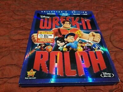 Disney Wreck-It Ralph Blu Ray Collector's Edition With Slipcover