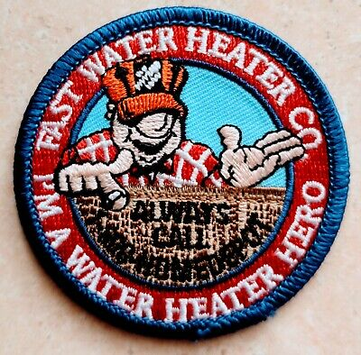 Home Depot Apron Badge: Fast Water Heater (patch, pin, swag)