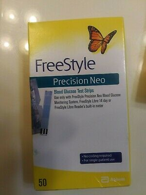 FreeStyle Precision Neo Blood Glucose Test Strips 50ct,EXP 04/2020 + free ship!