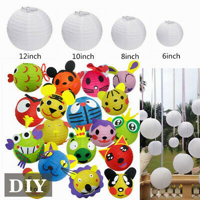 10Pcs Chiense Style Paper Lantern Round DIY Party Hanging Flower Ball Decoration