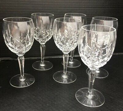 GORHAM CRYSTAL LADY ANNE Water Wine Goblets Set of 6 Mint Condition 6 3/4""