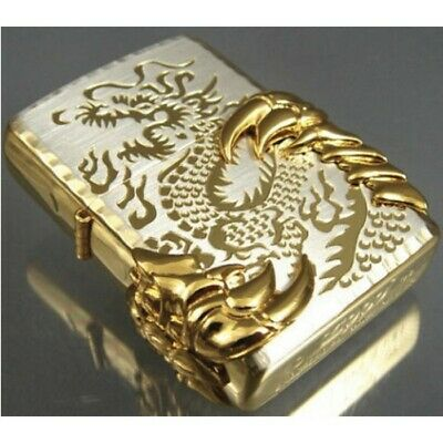Gold Ice Japanese Gold Dragon Claw -08 Zippo Lighter - AU Shipping