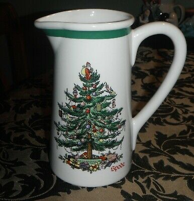 "Spode Christmas Tree Teleflora 7"" Carafe Pitcher"