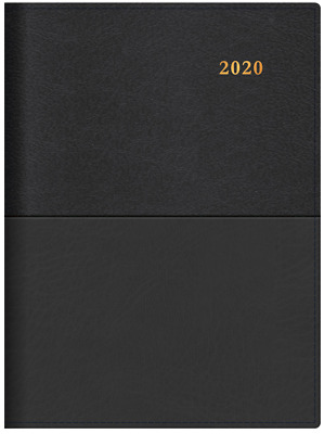 2020 Collins Vanessa Diary A4 2 Days to a Page Black 245.V99-20