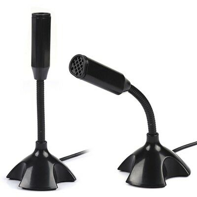 Flexible Microphone Desktop Stand Condenser Chatting Record Mic for PC Laptop WT