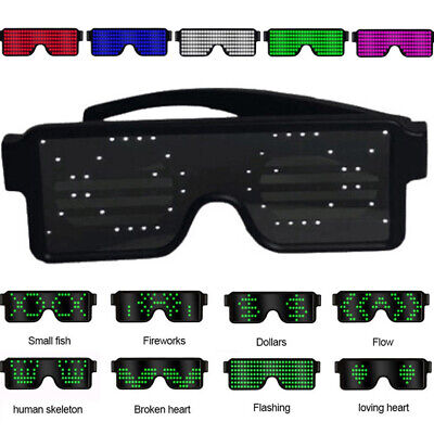 SALE ! Blue* LED Flashing Light-Up Glow Party Glasses Football Design