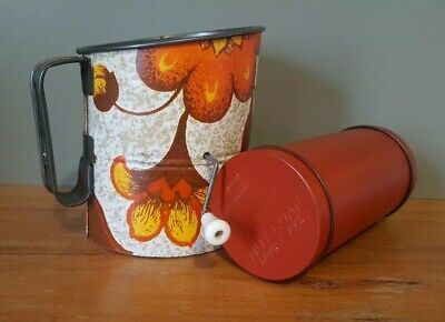 Vintage Willow Nut Loaf Tin And Willow Sifter Retro 1970's