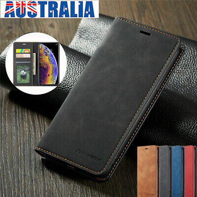For iPhone 6s 7 8 Plus XS Max XR 5S SE Magnetic Case Leather Wallet Flip Cover