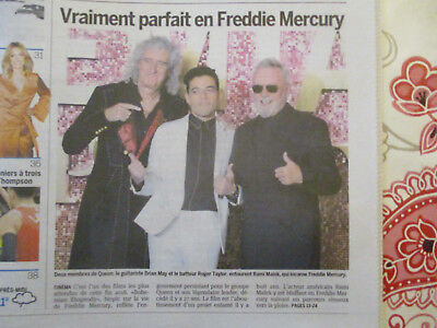 Article Sur Queen - Freddie Mercury Revit Sur Grand Ecran - 31/10/2018 - Biopic