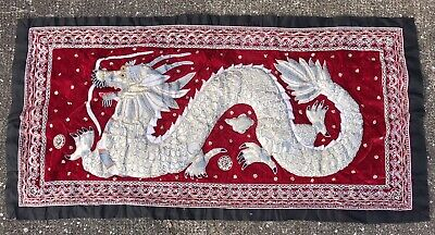 Fantastic Extra Large hand made wall hanging of Asian dragon Chinese Thai Lucky