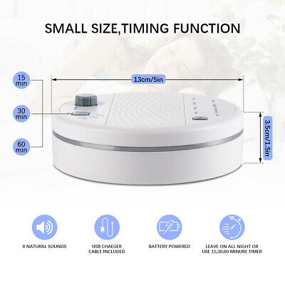 BROOKSTONE TRANQUIL MOMENTS Sleep Sound Machine 6 Different Sounds