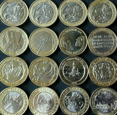 Various Rare £2 pound coins Olympics Commonwealth Navy Bible Frankenstein RAF
