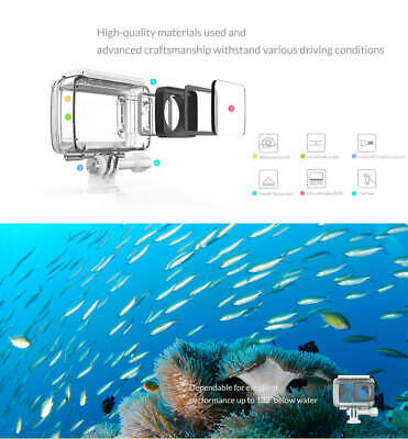 Waterproof Diving Protective Housing Underwater Case For Xiaomi Yi 2 4K Camera