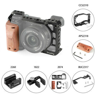SmallRig Cage Wooden Handgrip L-Bracket Cold Shoe for Sony A6300 / A6400 / A6500