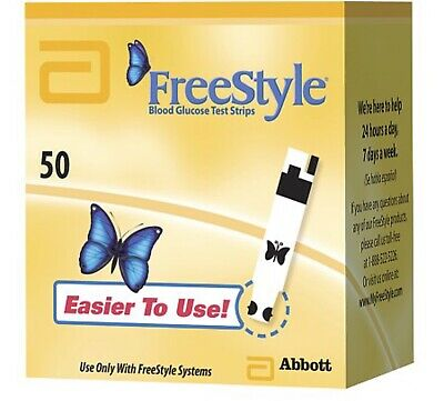 FreeStyle Blood Glucose Test Strips 50 Count Each Exp 1/21 Or After