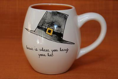 "RAE DUNN by MAGENTA THANKSGIVING ""HOME IS WHERE YOU HANG YOUR HAT"" COFFEE MUG"