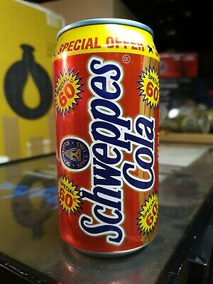 """Rare SCHWEPPES COLA """"60 CENT SPECIAL"""" 375ml Aluminium Soft Drink Can 1990's"""