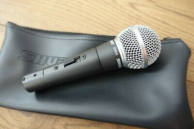 Shure SM58S Dynamic Cardioid Vocal Microphone with On/Off Switch Nearly New