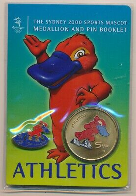 "Australia: 2000 Olympic Athletics Pin & Medallion ""Syd"" Sports Mascot Booklet"