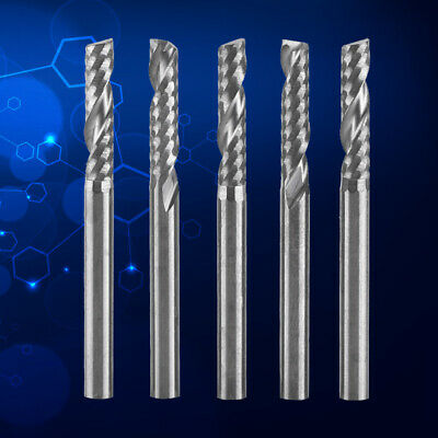 "1/8"" Solid Carbide End Mill Shank Dia Single Flute CNC Router Bits For Wood PVC"
