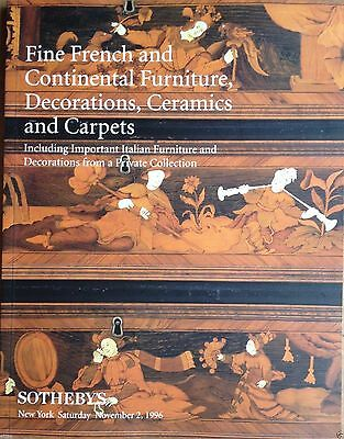 Sotheby's Catalog Fine French Furniture Decorations Ceramic Carpets NY Sale 1995