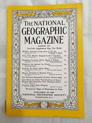 National Geographic magazine 1957 March