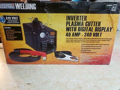Chicago Electric Welding Inverter Plasma Cutter w/Digital Display 40A 240V
