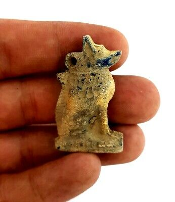 CIRCA 3100:2890 BC Unique Ancient Egyptian Anubis God Figurine Antique Amulet