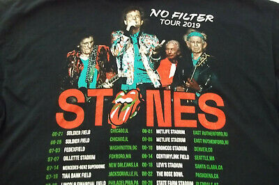 Rolling Stones No Filter t shirt new dates 2019 2xl new black fast shipping