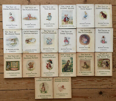 A Collection of 20 Titles from Beatrix Potter with dust jackets-1960's-See Below