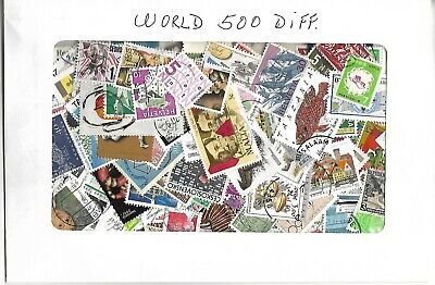 World Off Paper ! 500 Different...very Nice Stamps !!!