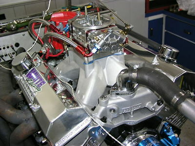 SBC CHEVY 434 PRO STREET MOTOR, AFR HEADS, CRATE MOTOR 670 hp BASE