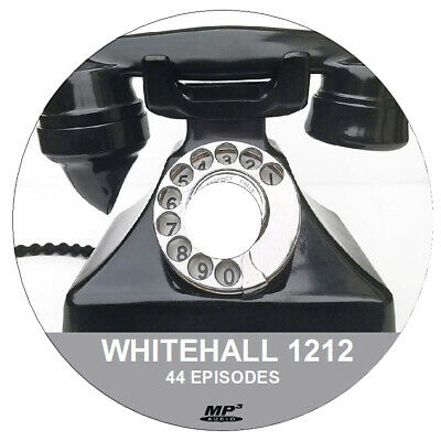 WHITEHALL 1212 ( 1X Audio .MP3 DVD) - 44 Old Time Radio Shows + FREE SOFTWARE