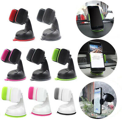 Mobile Phone Holder Universal Mount Car Windscreen Dashboard Home Office 8Colors
