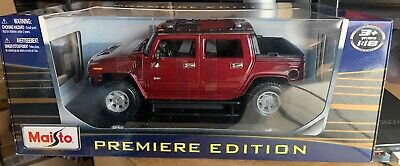 Maisto 1/18 Scale Diecast - 36633 Hummer Red Color