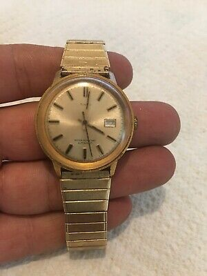 Vintage TIMEX  gold-Tone Water Resistant Wind-Up Automatic 34mm Watch