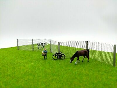 Model Wire Mesh Fence - Chain Link Fence N Gauge Railway Scenery - NEW