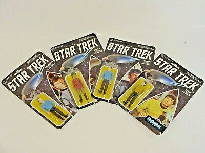 Lot of 4 Funko ReAction Series One Star Trek TOS Figures Spock McCoy Sulu Uhura
