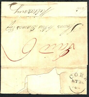 Ireland 1832 Cork to Killarney - cross post - unique Cork mark