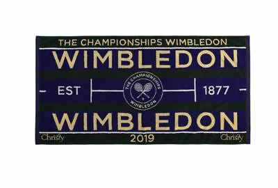 Wimbledon The Championship 2019 Official Mens Tennis Towel New In Travel Case
