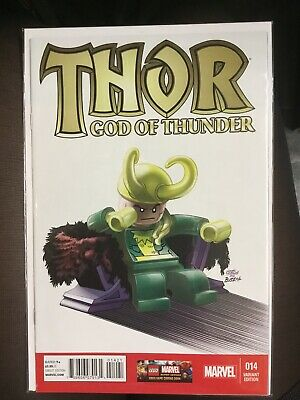 Thor God of Thunder #14 Marvel  2013 Castellani 1:25 Lego Variant