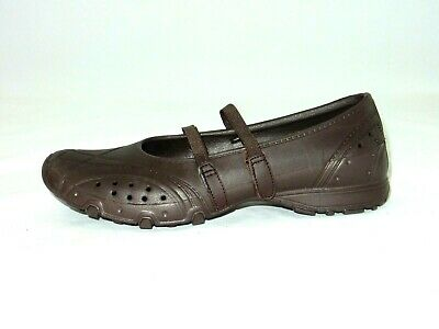 BROWN SKECHERS CROC like Mary Jane Style Shoes size 6