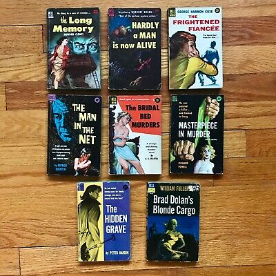 Lot of 7 Vintage DELL Mysteries || CLEWES | BREAN | P Quentin | Coxe HARD NOIR