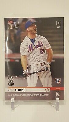 PETE ALONSO 2019 TOPPS NOW card #493 2019 Home Run HR Derby Champion Fast Ship
