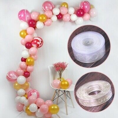 Unique 5M Balloon Arch Decor Strip Connect Chain Plastic DIY Tape Party U9O5F