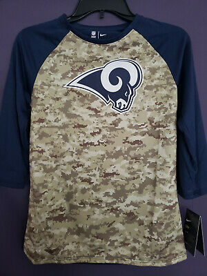 official photos ba171 de6a4 LOS ANGELES RAMS NFL Salute to Service Camo Pullover Hoodie ...