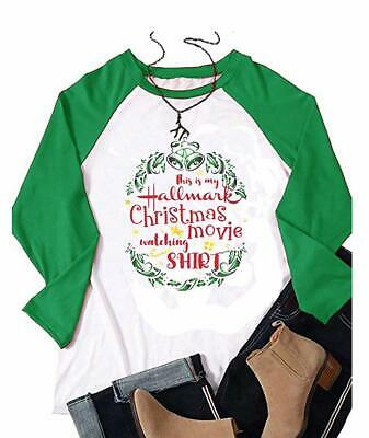This is My Hallmark Christmas Movie Watching Shirt T-Shirt Women Raglan Long Sle